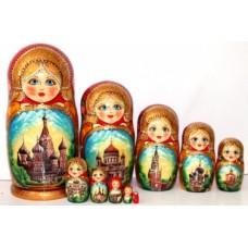 10602510 Матрешка Москва красная 10м 25см